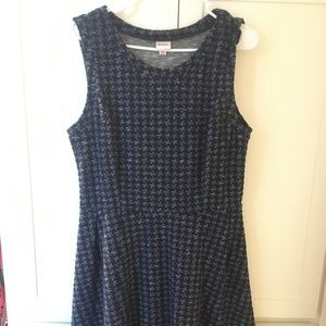 Short print dress: navy